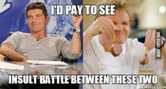 Simon Cowell an Gordon Ramsay