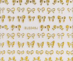 One Piece of Chic Bowknot Shape Gold Color 3D Nail Sticker Category: Beauty > Nails & Tools > Stickers & Decals #3dnailartstickers #3dnail #artnail #stikersnail #bridgat.com