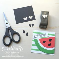 A tiny tip how to make those watermelon seeds ~ Cindy Schuster