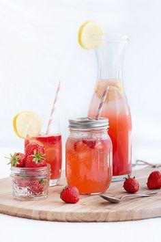Erdbeer-Melonen-Limonade