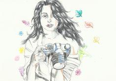 Mujer con la cámara