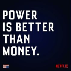 Money gives power, well, a run for its money.