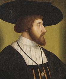 King Christian II of Denmark, from an unknown Dutch painter, active 1475-1525.