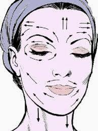 Masaje facial.