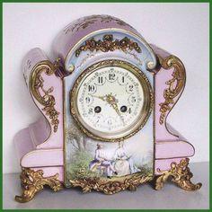 Reloj de  RELOJ FRANCES EN PORCELANA FRANCESA S.XIX REF.113