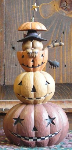 Jack-a-stack Cat from the Williraye Studio Halloween Collection $27.49 at the Cottage Gift Shop - Elmira, NY