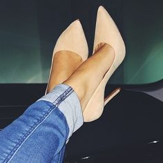 Nude pumps - size 6!