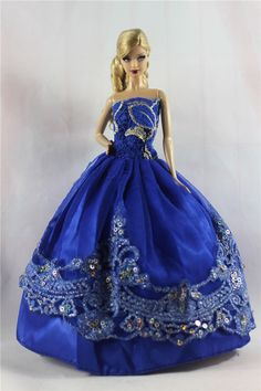 Lot 15 items= 5 Princes Dress/Wedding Clothes/Gown+10 shoes For Barbie Doll S03F | eBay
