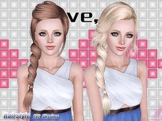 Hair 192 for females all ages by Skysims for Sims 3