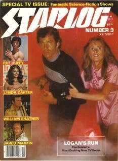 Starlog magazine issue No. 9 featuring Logan's Run TV Series