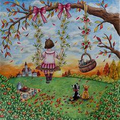 Hello autumn #romanticcountry #eriy #romanticcountrycoloringbook #coloring #coloringbook #adultcoloringbook #adultcoloring #pencils #prismacolorpremier #prismacolor
