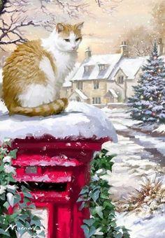 THEME: match color or any Christmas/Winter Theme. -- Richard Macneil (b.1958) — (622x900)