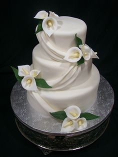 Calla Lilly Wedding Cake By Mbakeshop On CakeCentralcom Cakes - Calla Lilly Wedding Cake