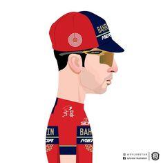 Vincenzo Nibali Milan San Remo 2018 Vincenzo Nibali, Bicycle Illustration, Bicycle Art, Bike Style, Cycling Art, Les Oeuvres, Milan, Baseball Cards, Fictional Characters