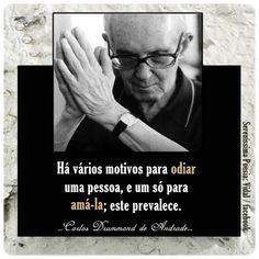 Drummond... Sempre! - via https://www.facebook.com/SerenissimaPoesiaVida