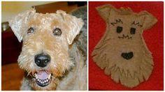 Fingerless Gloves Airedale Irish Welsh Terrier Dog by BZfingers, $23.00