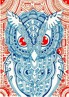 ACEO:Holy Owl by *lutamesta on deviantART
