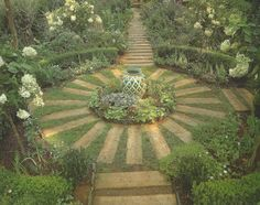 herb circle stone herb circle and fountain bees chickens a berry hill and more garden ideas pinterest gardens pathways and pebble stone