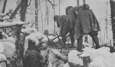 Winter War: Repairing Trenches in the Snow 1916