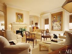 Traditional Living Room by Thomas Pheasant in Georgetown, Washington, D.C