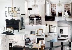 Moodboard Klassiek interieur Office Desk, Gallery Wall, Floor Plans, Collages, Modern, Trends, Furniture, Home Decor, Style