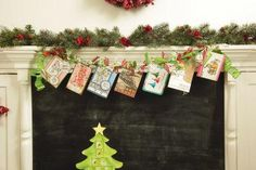 Christmas Card Ribbon Garland