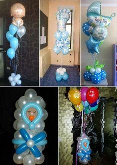 Baby Shower Balloon Ideas From Prasdnikov #decoracionbabyshower