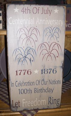 4TH OF JULY  FREEDOM  FIREWORKS PRIMITIVE SIGN SIGNS