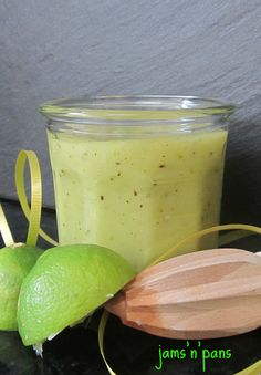Kiwi, Lime, Coconut, and Rum Curd.