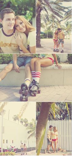 rollerskates and sunshine, I don't think it could get any more perfect. via #stylemepretty.