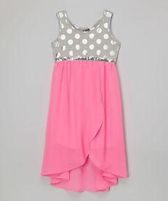 Look at this #zulilyfind! Pogo Club Neon Pink Lola Dress by Pogo Club #zulilyfinds