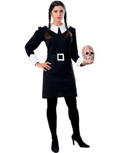 Superb The Addams Family Wednesday Addams Adult Costume. Amazing selection for The Addams Family Costumes for Halloween at PartyBell. Adult Wednesday Addams Costume, Addams Family Halloween Costumes, Addams Family Wednesday, The Addams Family, Wednesday Addams Dress, Costumes Sexy Halloween, Halloween Fancy Dress, Adult Costumes, Costumes For Women