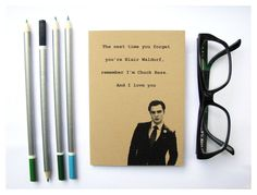 Chuck Bass Quote Notebook
