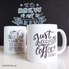 Just another coffee addict! #lettering #handlettering #paperfuel