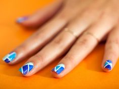 Geometric Nails on TopCoat, as seen on Brit + Co