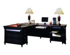 Aspenhome Young Classic Computer Desk and Return by Young Classic. $2656.54. Everygreen features classic columns, carved C-scroll details, and Chippendale-type fretwork. Solid and veneers woods are finished in a coobblestone black distressed finish, providing and antique, aged look.