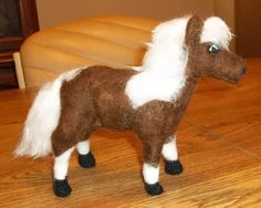 One of a Kind Needle Felted Painted Pony