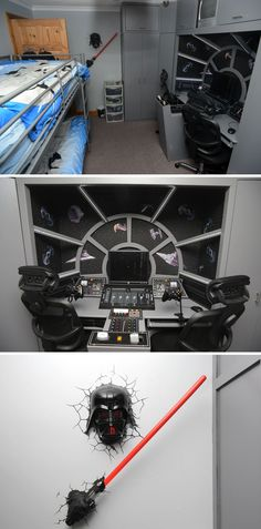 The ultimate bed room for young Star Wars fans