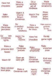 Doing these with Britt this year...Christmas Countdown Ideas