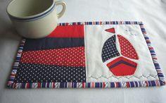 Ahoy boat summer mug rug pattern on Craftsy.com
