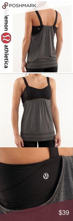 💕SALE💕Lululemon Run: Back on Top Heathered Gray Fabulous 💕Lululemon Run: Back on Top Heathered Gray Like New lululemon athletica Tops Tank Tops