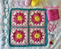 Patrón Alfombra Pretty Paso a Paso - Mariatrapillo Crochet Rug Patterns, Knitting Patterns Free, Free Pattern, Crochet Bolero, Crochet Doilies, Crochet Carpet, Love Crochet, Diy And Crafts, Cross Stitch