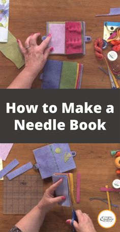 Best 12 Laura Roberts shows you how to make a simple needle book out of wool. Learn how embroider it, add an index, and finish it with a button to keep it closed. Some of the materials you will need are five pieces of felted wool x snaps, handmade p Sewing Hacks, Sewing Tutorials, Sewing Crafts, Sewing Patterns, Sewing Tips, Wool Applique Patterns, Needle Case, Needle Book, Little Presents