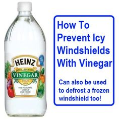 How To Prevent Or Defrost Icy Windshields With Vinegar