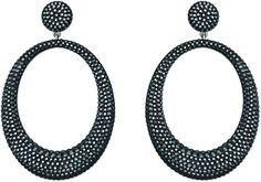 ec0c62c7d SWAROVSKI Stone Large Pierced Earrings - Jet Hematite, $180 ON  JENEELOVEE.COM - Follow
