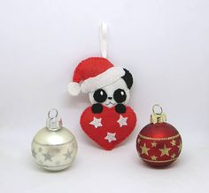 Decoration de Noel panda, panda kawaii, deco noel, decoration pour sapin de  Noël