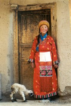 Amdo Tibetan Girl and Her Lamb by Kuo-ming Sung #world_cultures