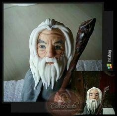 Şeker hamurundan Gandalf çalışmam