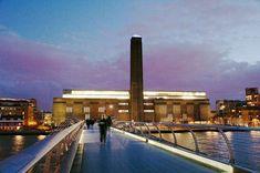 Tate Modern from Millenium Bridge, London Tate London, Tate Modern London, London Art, Tate Modern Gallery, Tate Gallery, Tate Modern Museum, Museum Of Contemporary Art, Modern Art, London What To See
