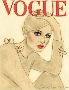 Twiggy on French Vogue